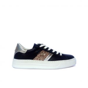 Sneaker nera/oro Crime London