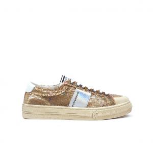 Sneaker oro con pailletes Moa