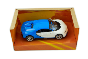 Bugatti Chiron White Blue 1/24 Burago