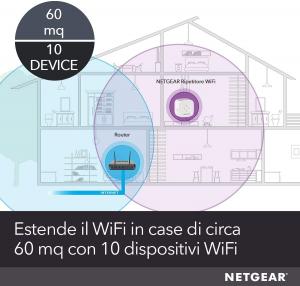 Netgear EX3110 Ricevitore e trasmettitore di rete Bianco 10, 100, 300 Mbit/s