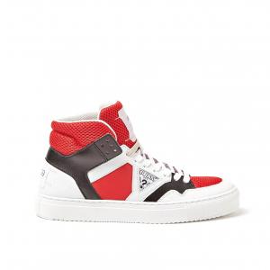 Sneaker alta bianco/blu o bianco/rossa Guess