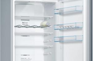 Bosch Serie 4 KGN39VLEB frigorifero combinato Libera installazione 366 L Acciaio inossidabile