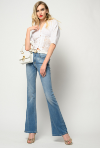 SHOPPING ON LINE PINKO BLUSA CORTA IN SANGALLO NEW COLLECTION WOMEN'S SPRING SUMMER 2021
