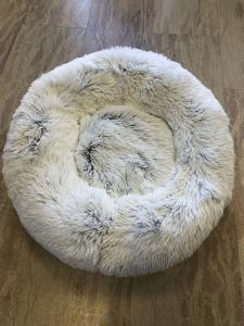 CUCCE - Cuccia ANTI STRESS, cane diam. cm. 90-95, colore bianco ghiaccio variegato.