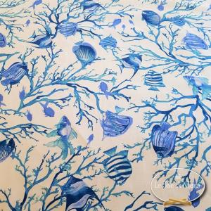 Tovaglia Caraibi blu resinata