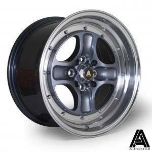 Cerchi in lega  Autostar  Classic  16''  Width 8.5   4x108~4x100  ET 25  CB 67,1    RLGunmetal