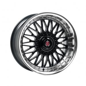 Cerchi in lega  AXE  EX10  18''  Width 9   5x118  ET 40  CB 73.1    Black & Polished Lip