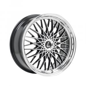 Cerchi in lega  LENSO  EAGLE 3  17''  Width 7.5   4x98  ET 35  CB 72.6    Black Polished & Mirror Dish