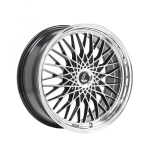 Cerchi in lega  LENSO  EAGLE 3  17''  Width 7.5   5x114.3  ET 35  CB 72.6    Black Polished & Mirror Dish