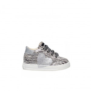 Sneaker argento animalier Falcotto