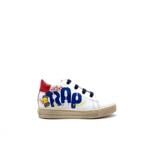 Sneaker bianco/rossa con graffito Falcotto