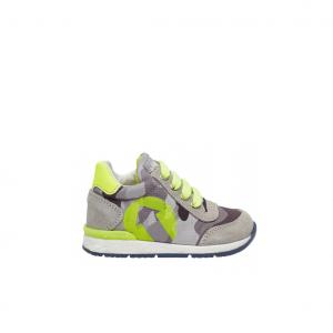 Sneaker grigia/giallo fluo Falcotto