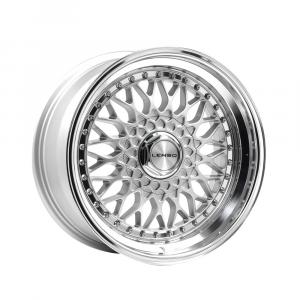 Cerchi in lega  LENSO  BSX  17''  Width 8.5   4x98  ET 35  CB 73.1    Silver & Mirror Dish