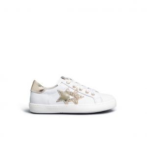 Sneaker bianca/oro con stelle Nero Giardini