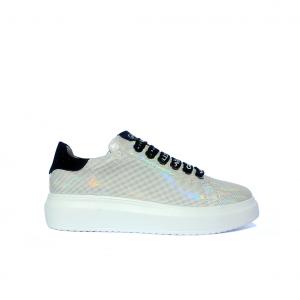 Sneaker argento rifrangente Gaëlle Paris