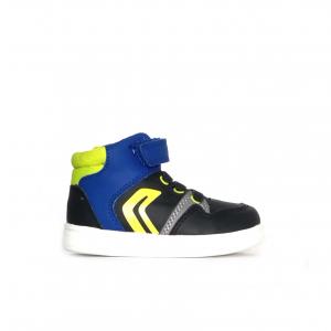 Sneaker navy/verde lime Geox