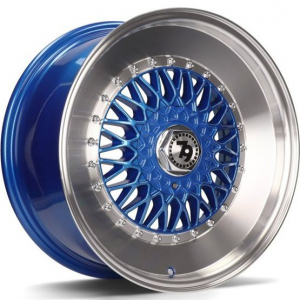 Cerchi in lega  79Wheels  SV-F  17''  Width 8   10x112/114  ET 30  CB 72,6    Blue Polished Lip
