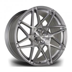 Cerchi in lega  RIVIERA  RF2  20''  Width 8,5   PCD Custom  ET disponibili da 15 a 45  CB 72.5    Platinum Brushed