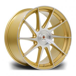 Cerchi in lega  STUTTGART  SF11  18''  Width 8,5   PCD Custom  ET 38  CB 73.1    Gold Brushed