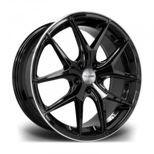 Cerchi in lega  RIVIERA  RV136  22''  Width 9   PCD Custom  ET disponibili da 15 a 45  CB 74.1    Gloss Black Polished Lip