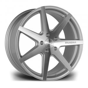 Cerchi in lega  RIVIERA  RV177  19''  Width 9,5   PCD Custom  ET disponibili da 15 a 45  CB 73.1    Silver Polished