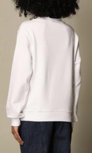 Felpa bianca Moschino couture