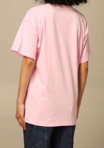 T-shirt rosa Moschino couture