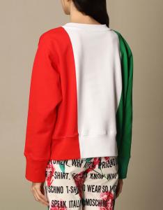 Felpa tricolore Moschino couture