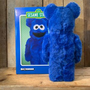 Be@rbrick Medicom Toy Cookie Monster 400% Blu Elettrico