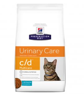 Hill's - Prescription Diet Feline - c/d - Pesce Oceanico - 5 kg x 2 sacchi