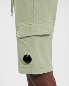 SHOPPING ON LINE C.P. COMPANY Light Fleece Garment Dyed Cargo Shorts NEW COLLECTION SPRING/SUMMER 2021
