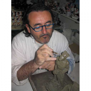 Orologio da muro Oramacchia in resina decorata bianco lucido Made in Italy