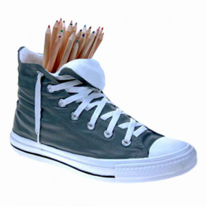 Vaso Portaoggetti Portapenne Sneakers Jody in resina oro Made in Italy