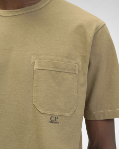 SHOPPING ON LINE C.P. COMPANY I.C.E. GARMENT DYED LOGO T-SHIRT NEW COLLECTION SPRING/SUMMER 2021