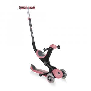 Monopattino Passeggino Triciclo a 3 Ruote Globber Go-UP Deluxe Deep Pink