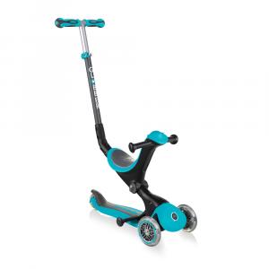 Monopattino Passeggino Triciclo a 3 Ruote Globber Go-UP Deluxe Teal
