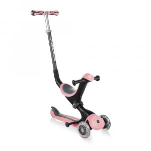 Monopattino Passeggino Triciclo a 3 Ruote Globber Go-UP Deluxe Pastel Pink