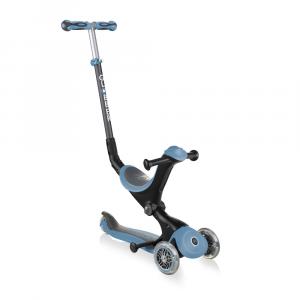 Monopattino Passeggino Triciclo a 3 Ruote Globber Go-UP Deluxe Pastel Ash Blu