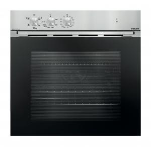 Glem Gas GFM52IX-S3 forno Forno elettrico 60 L A Nero, Acciaio inossidabile