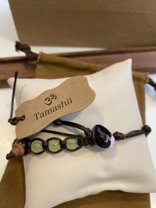 Bracciale Tamashii con Giada verde chiaro