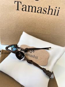 Bracciale Tamashii con Agata azzurra striata