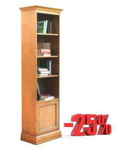 Librería estrecha 1 puerta color cerezo - promo