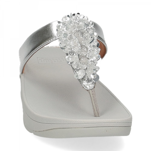 Fitflop Fino Sequin toe thongs silver-3