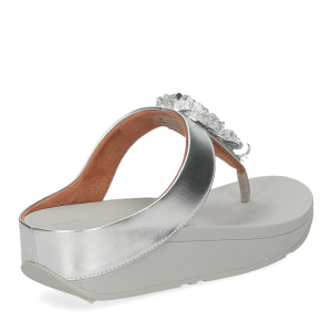 Fitflop Fino Sequin toe thongs silver-5