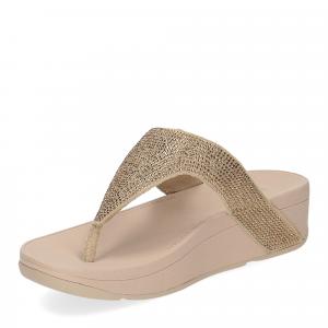 Fitflop Lottie Shimmer crystal artisan gold-4