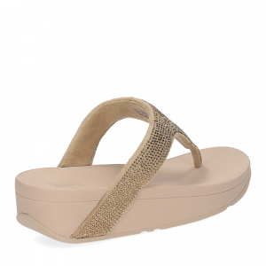 Fitflop Lottie Shimmer crystal artisan gold-5