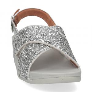 Fitflop Lulu glitter back strap sandals silver-3