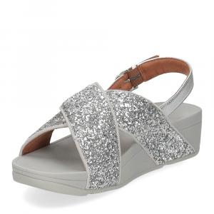 Fitflop Lulu glitter back strap sandals silver-4