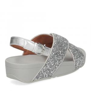 Fitflop Lulu glitter back strap sandals silver-5
