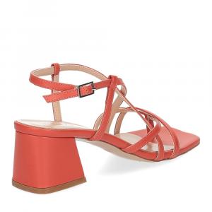 Il Laccio sandalo 1417 pelle arancio-5